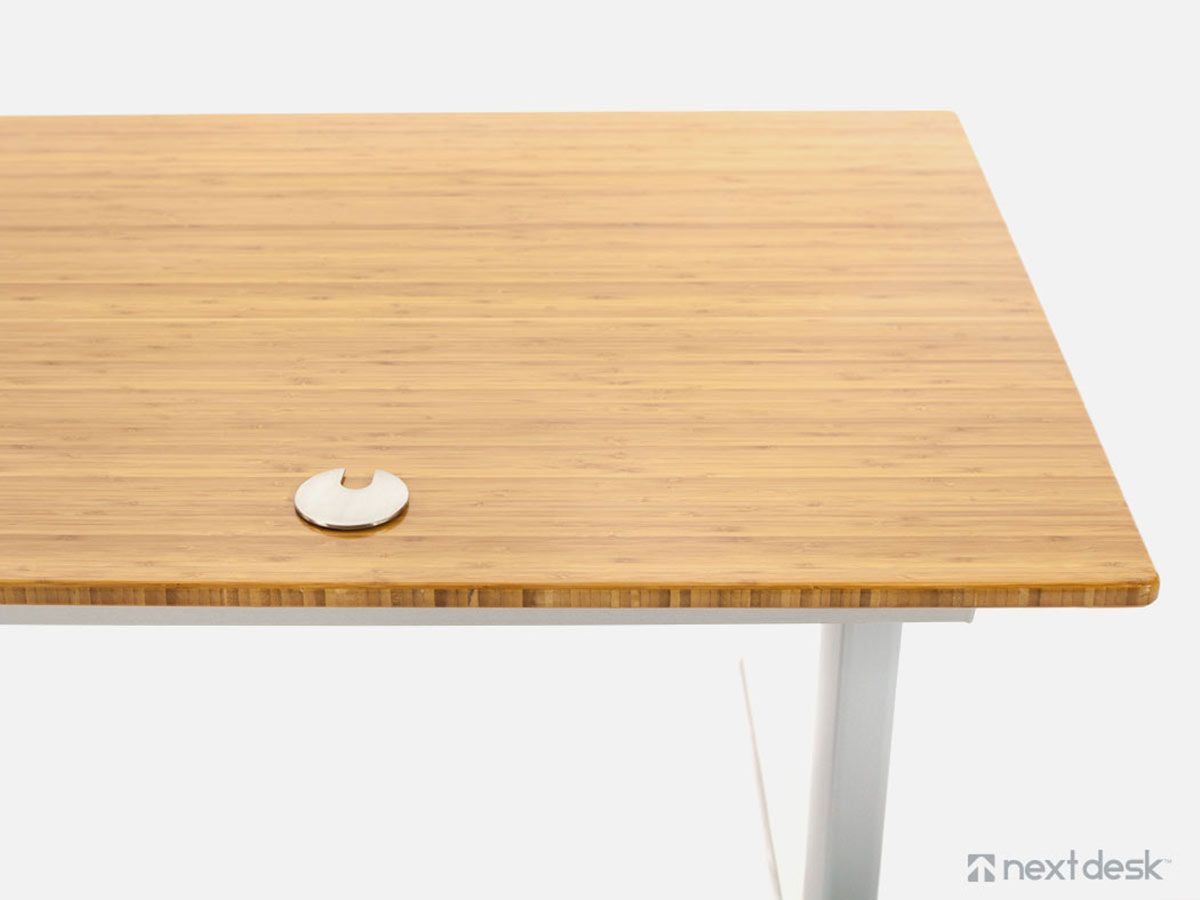 introduction bamboo desk large steel id and