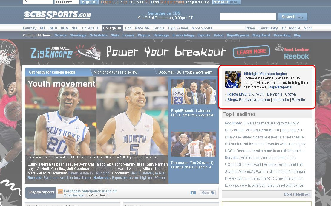 CBS SPORTS Takeover Cbs sports, Cbs, Mobile shop