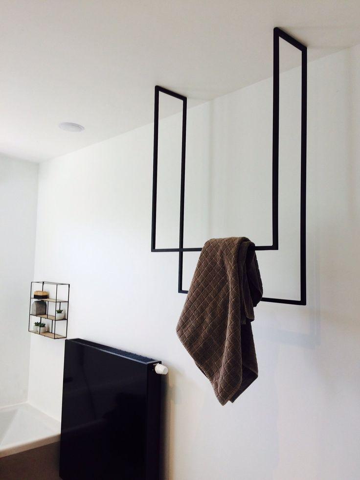 Metall Handtuch Schwarz Bad Super Idee Fur Meine Kleidung Die Ich Badezimmer Schwarz Kleine Badezimmer Design Handtucher