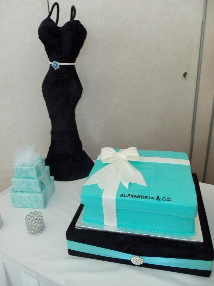 breakfast at tiffanys bridal shower kasey co cake