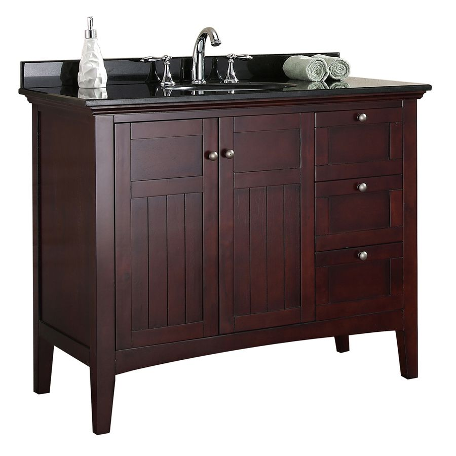 Shop OVE Decors Tobacco Undermount Single Sink Birch Bathroom Vanity With  Granite Top (Common: