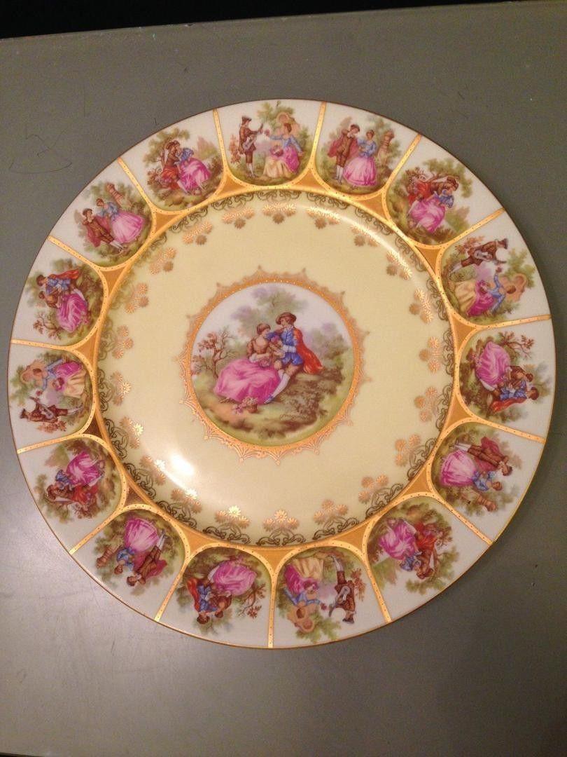 Bavarian Vintage Fragonard Royal Wall Plate Love Story 11\
