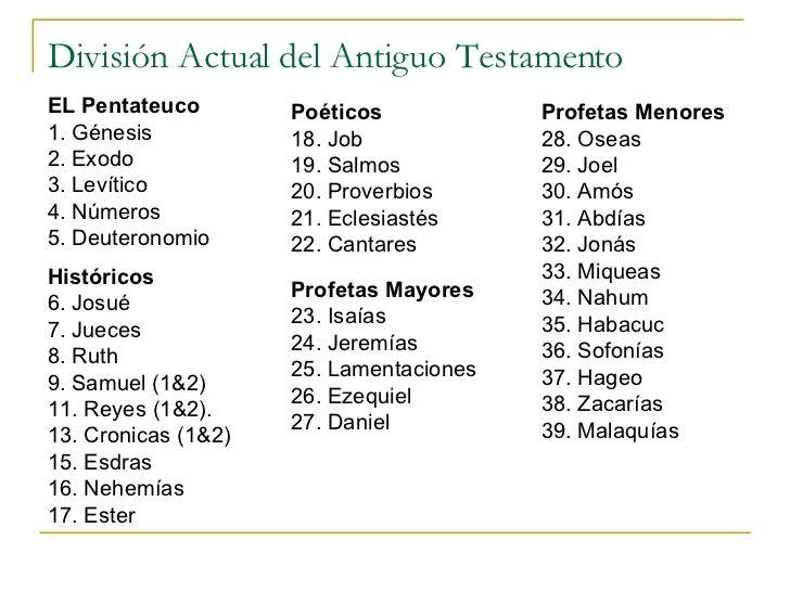 Divisiones De La Biblia Para Imprimir
