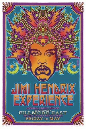 Fillmore East Poster Jimi Hendrix Experience