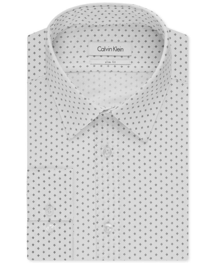 Calvin Klein White Slim Fit Dress Shirt Sale Off51 Discounts