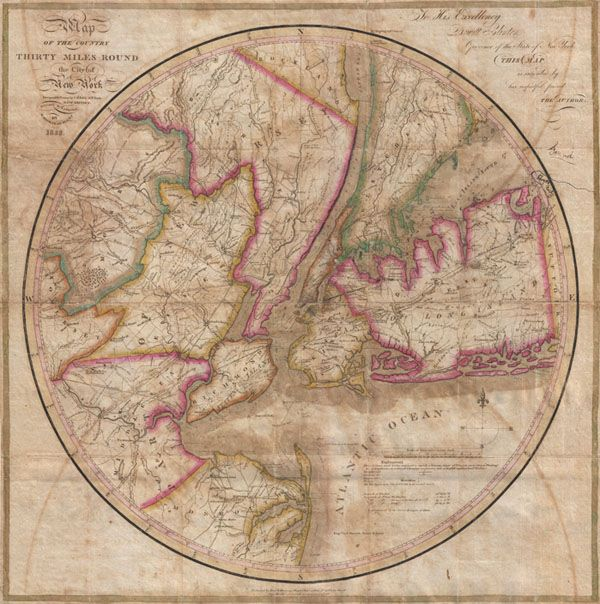 Antique NYC map Old World Maps Pinterest - new antique world map images