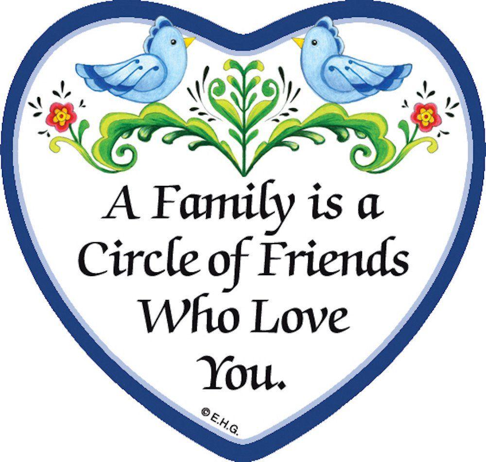 Tile Magnet: Circle of Friends - GermanGiftOutlet.com