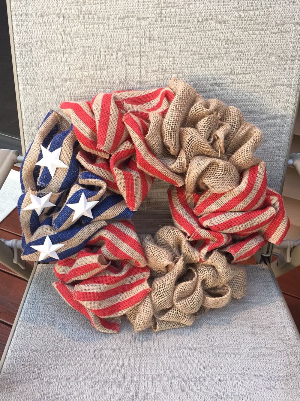 Flag themed Fourth of July wreath Dyi crafts, Crafts