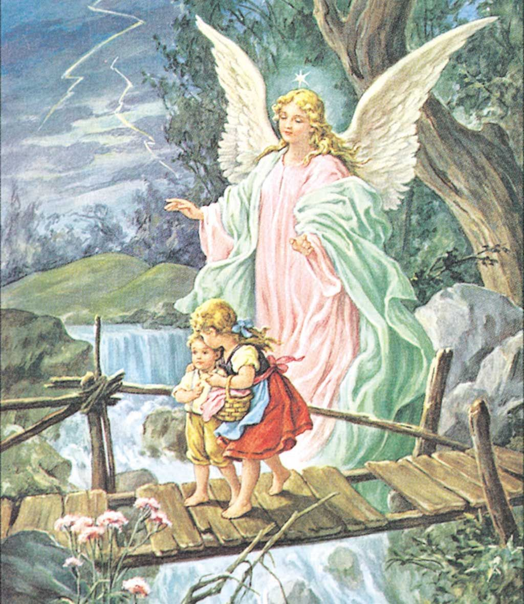 Guardian Angel Looking After Two Precious Children As