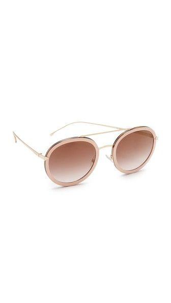ade5ffbd0ba4 Fendi Funky Angle Round Sunglasses