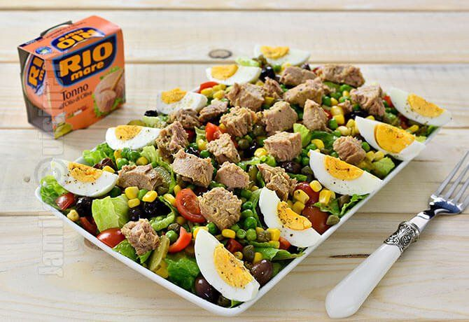 Salata cu ton la conserva