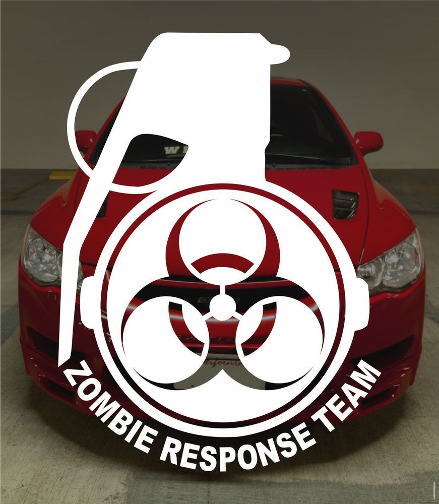 Zombie Outbreak Response Team 5 Vinyl Decal Sticker Walking Dead Apocalypse Ebay Bumper Stickers Halloween Decals Metal Tattoo [ jpg ]
