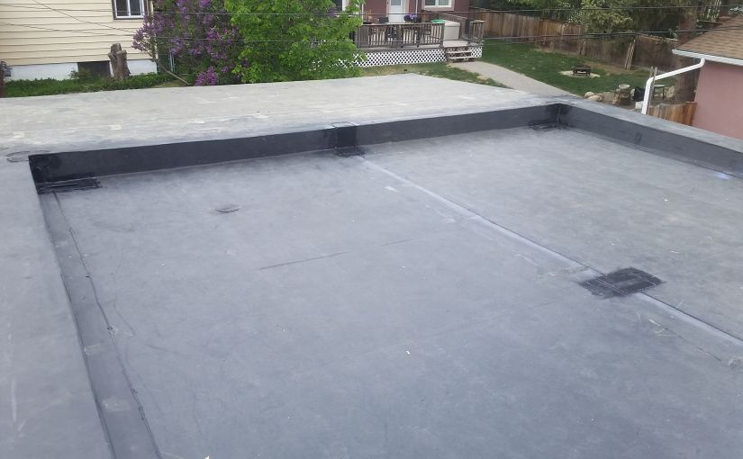 Epdm Roof Replacement Edmonton Residential Flat Roof