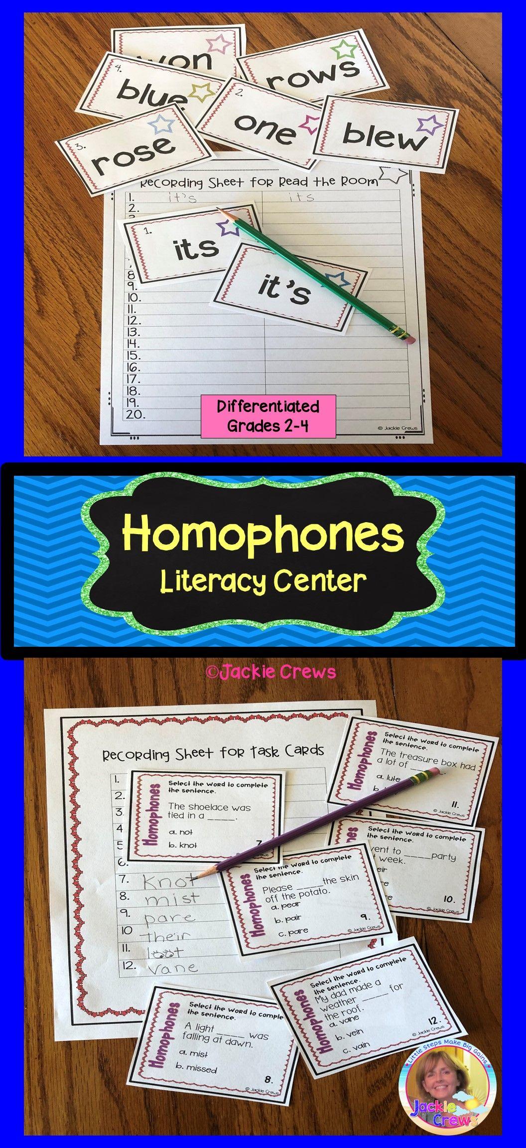 Homophones Literacy Hands On Literacy Center