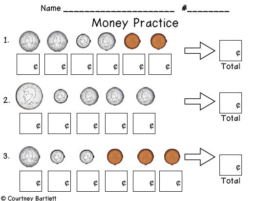 Grade 2 math worksheet - Counting Canadian money: nickels, dimes ...