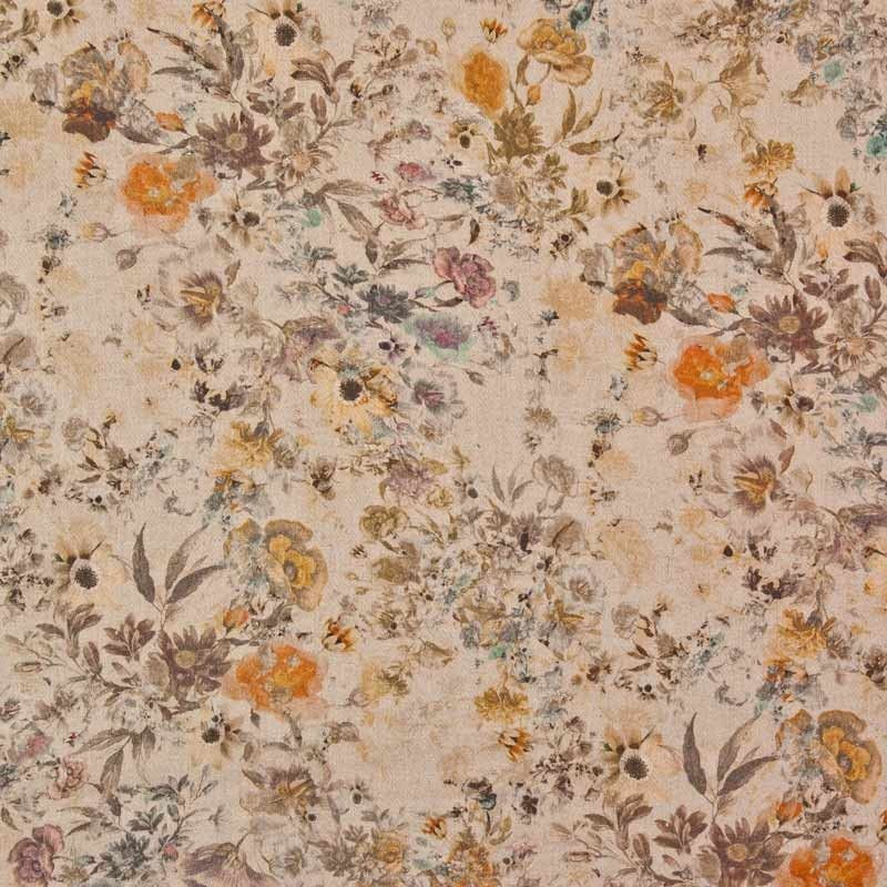 Chalford Print Linen Viscose Fabric Natural 136cm