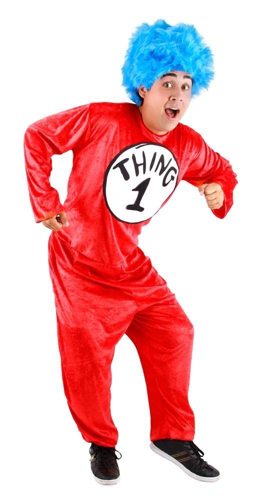 Trendy Halloween - #Elope Dr Seuss Thing 12 Classic Adult Unisex - dr seuss halloween costume ideas