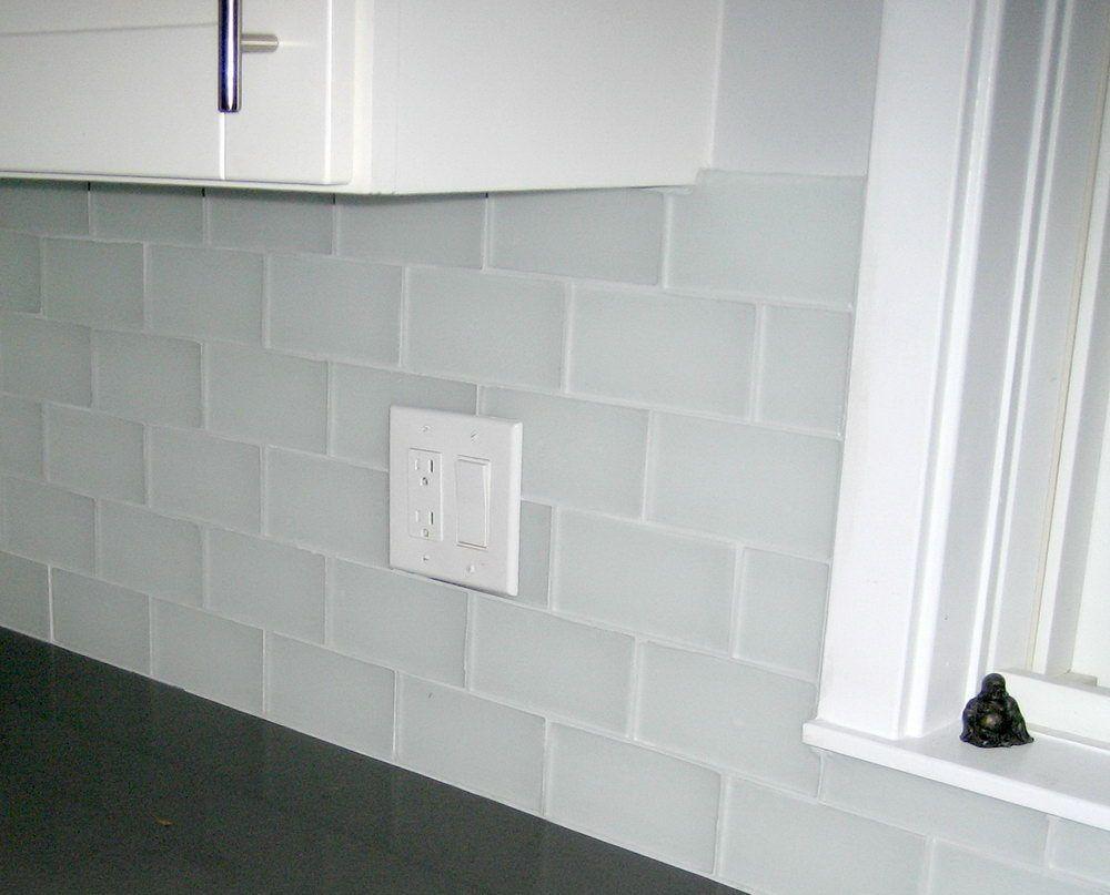 Image Result For Clear Frosted Glass Subway Tile Backsplash