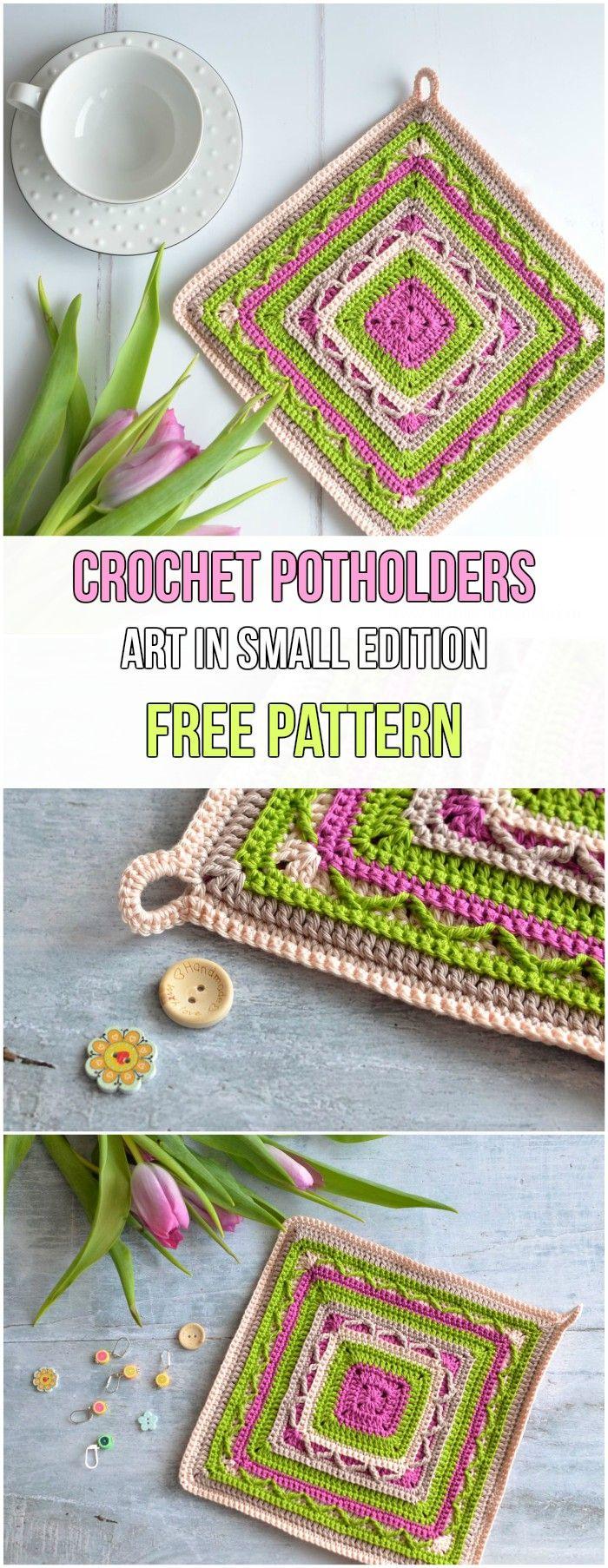 Stunning Granny Square Crochet Potholders Free Patterns   Pinterest ...
