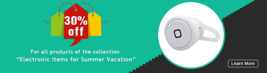 """30% off for all products of the collection """"Electronic Items for Summer Vacation"""""""