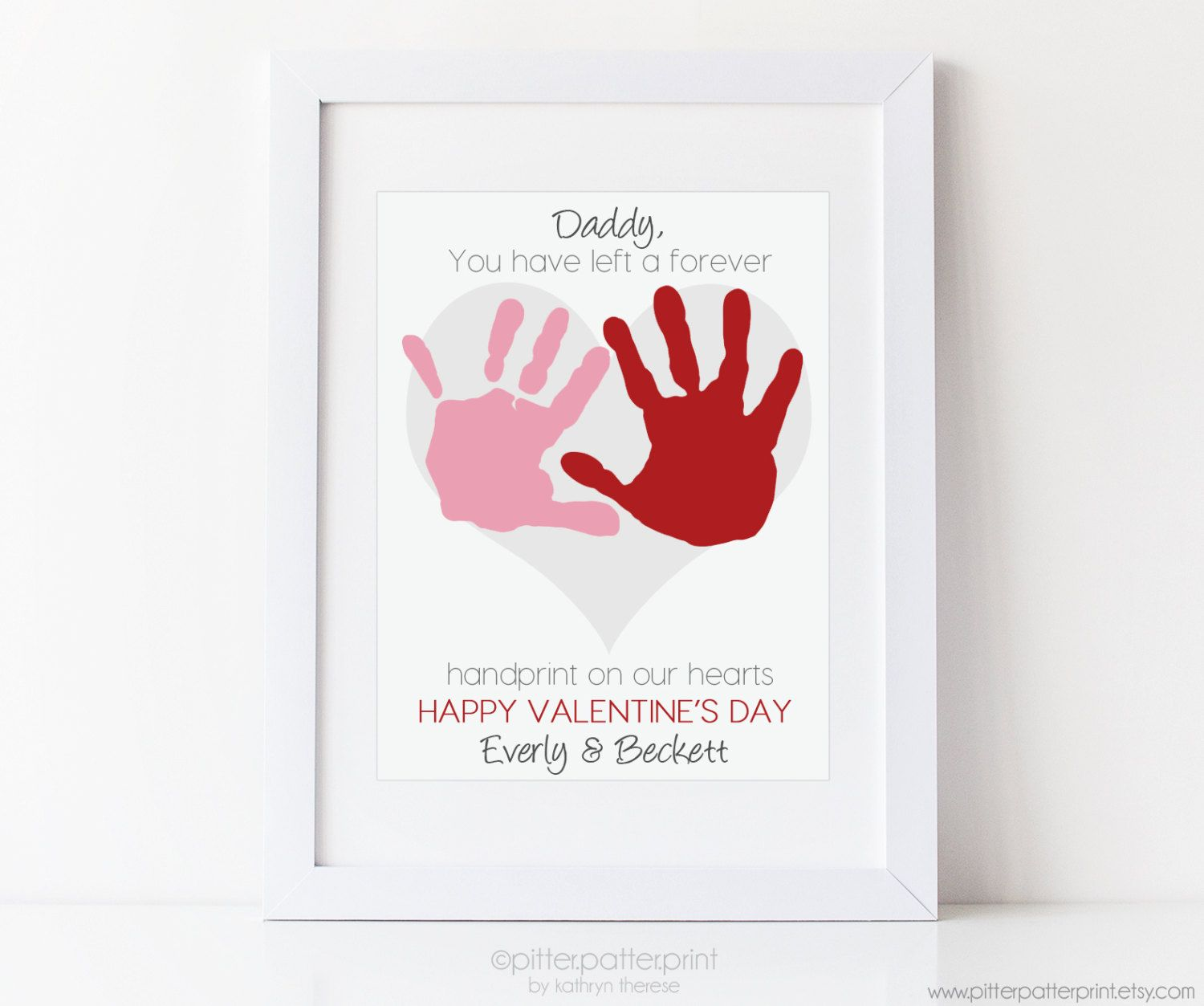 Dad valentines day gift for daddy by pitterpatterprint on