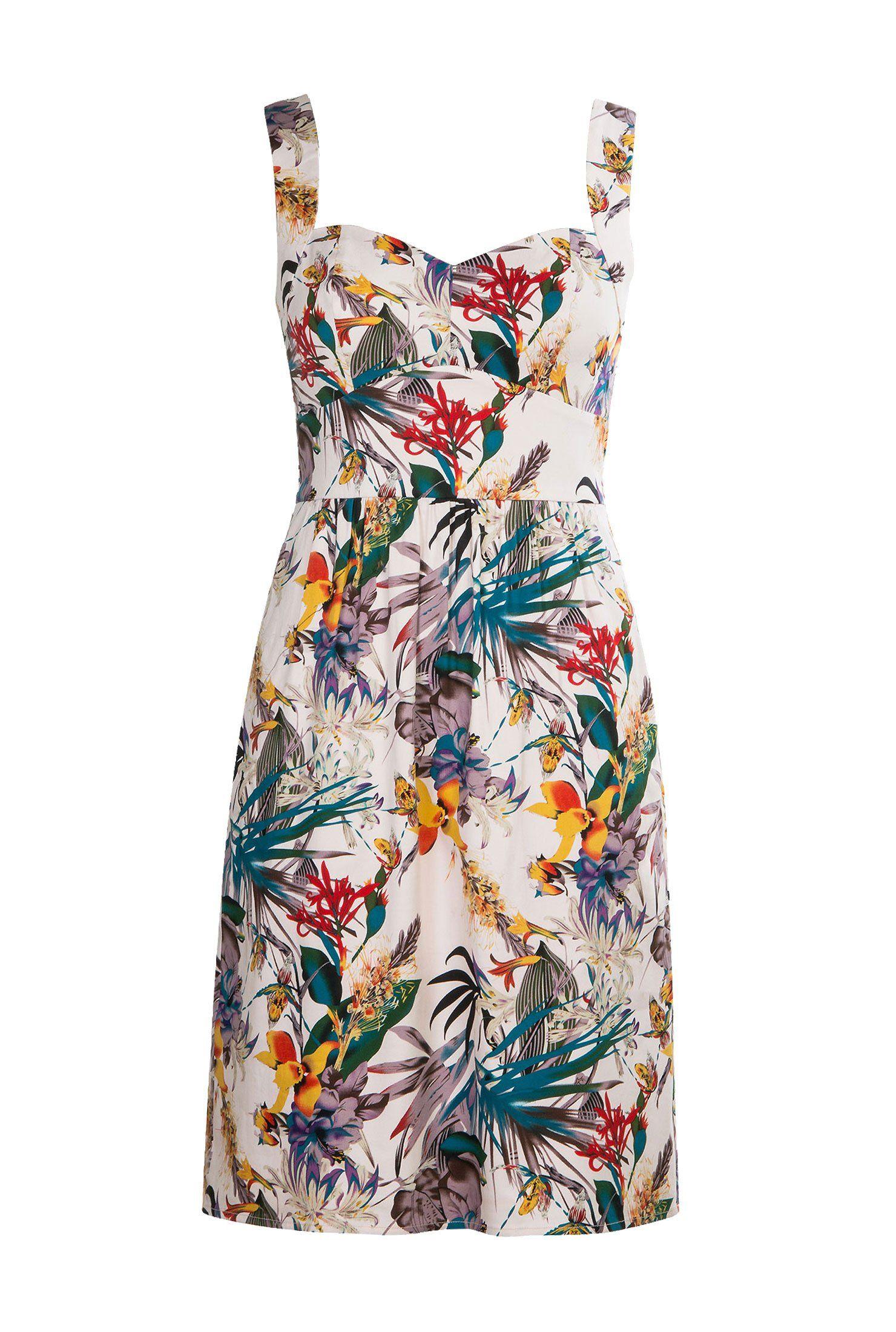 Eshakti Women S Her Fifties Tropical Fl Print Dress At Clothing
