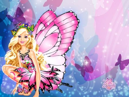 Barbiemariposawallpaper2 Desktop Nexus Wallpapers
