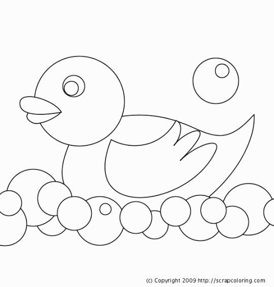 Rubber Ducky Coloring Page | Coloring Pages | Pinterest