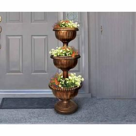 24 22 amazon com tiered antique finish plastic urn planter by rh pinterest com