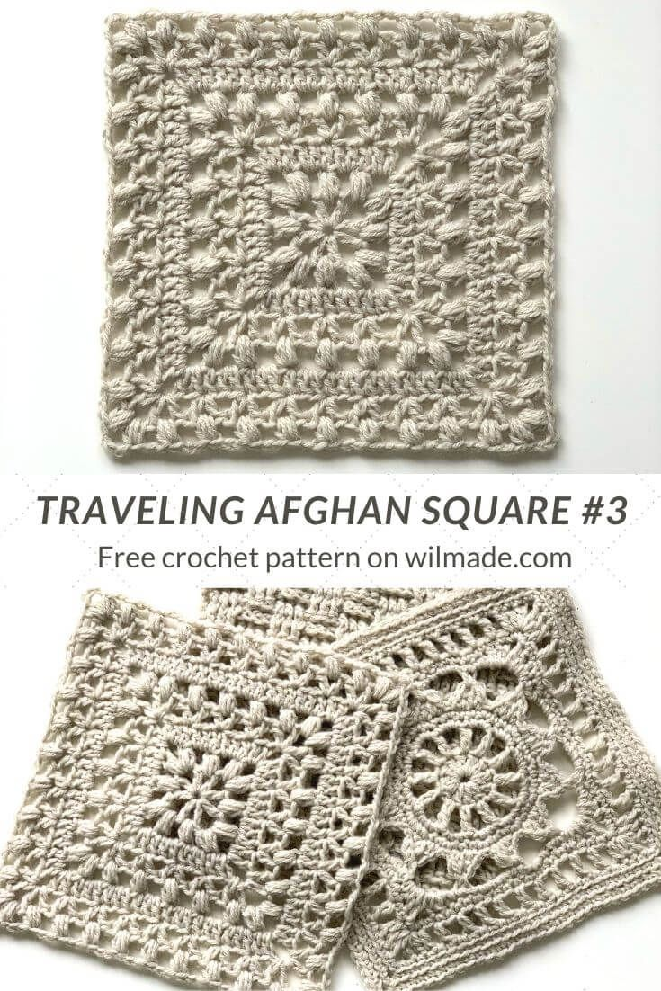 Crochet Afghan Square #3 – Tulips from Holland by Wilmade