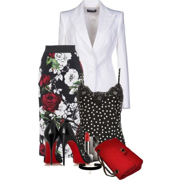 D&G Spring Fashion by flowerchild805 on Polyvore featuring Dolce&Gabbana, Christian Louboutin, Chanel, Forever New and Burberry