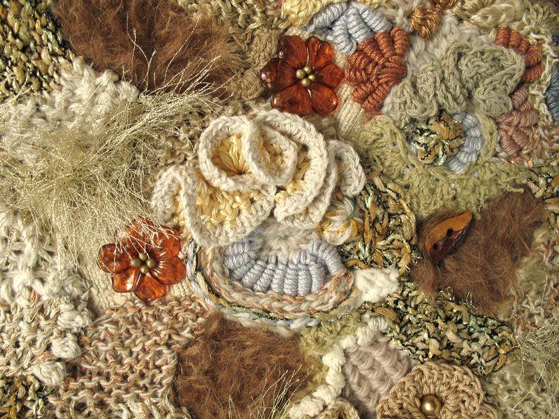 freeform knit & crochet fabric closeup   Freeform crochet, Crochet ...