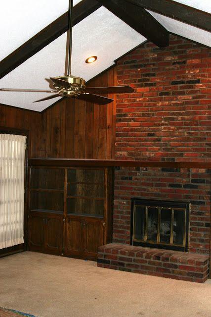 5 Dramatic Brick Fireplace Makeovers Brick Fireplace