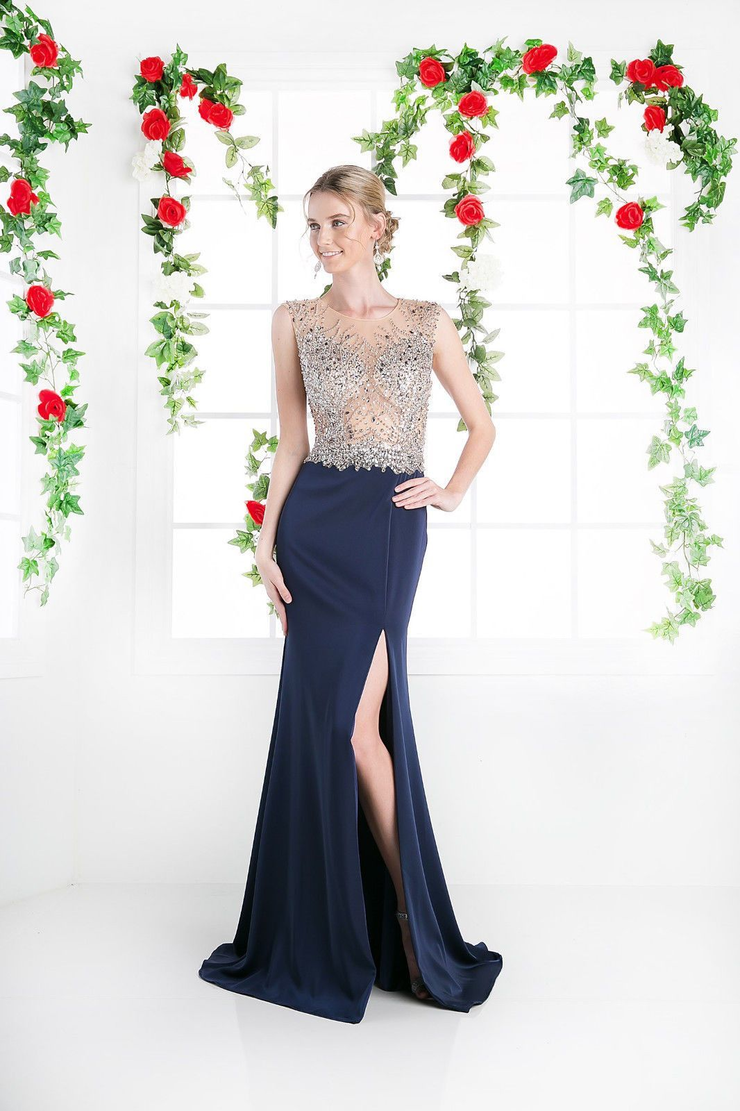 Sexy Long Formal Prom Dress Evening Gown Open Back