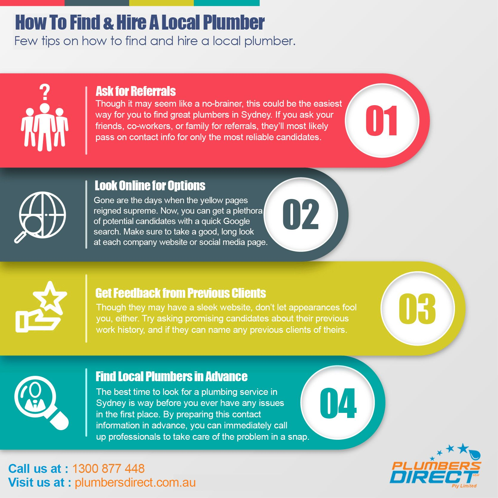 How To Find Hire A Local Plumber Cash Management Infographic