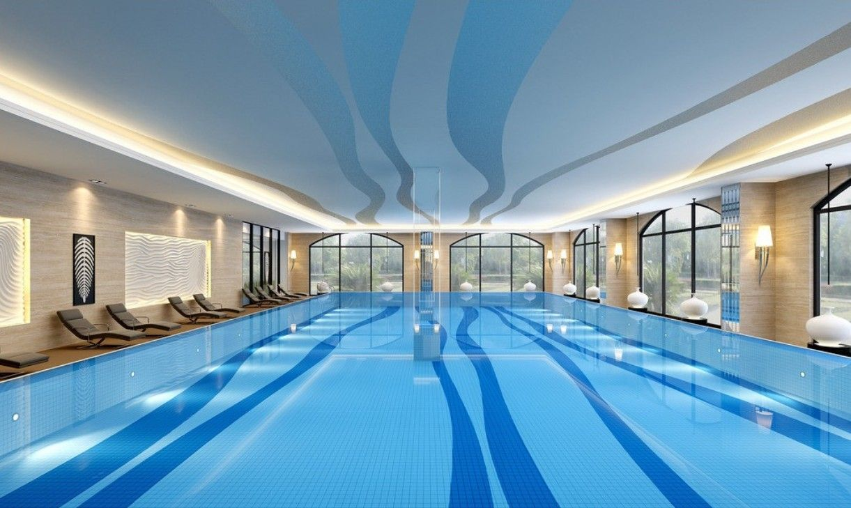 Swimming pool indoor  Indoor Swimming Pool Layout - http://www.interior-design-mag.com ...