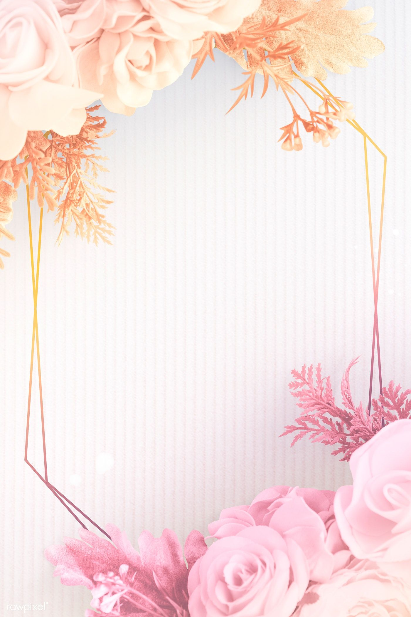 Download premium psd of Blank golden floral frame design