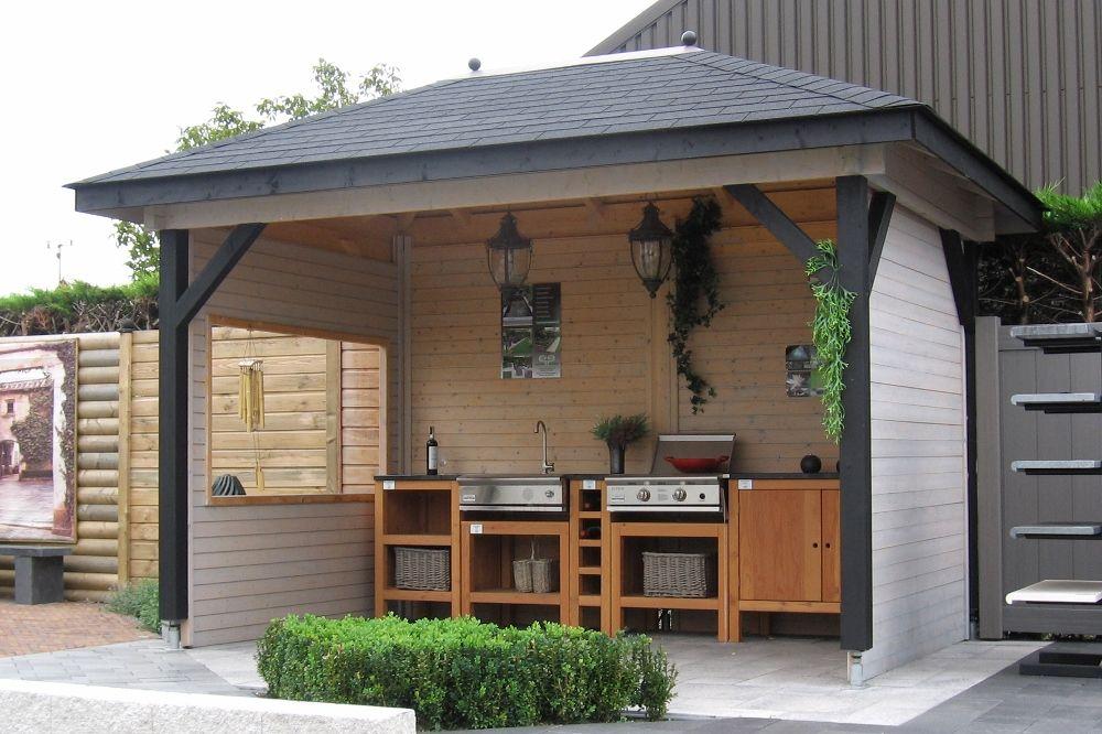 Buitenkeuken overkapping tuinhuizengroep Buitenkeukens