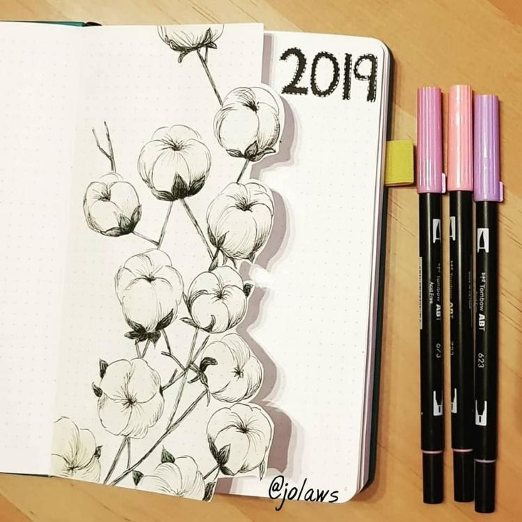 2019 Bullet Journal Ideas.  #augustbulletjournal