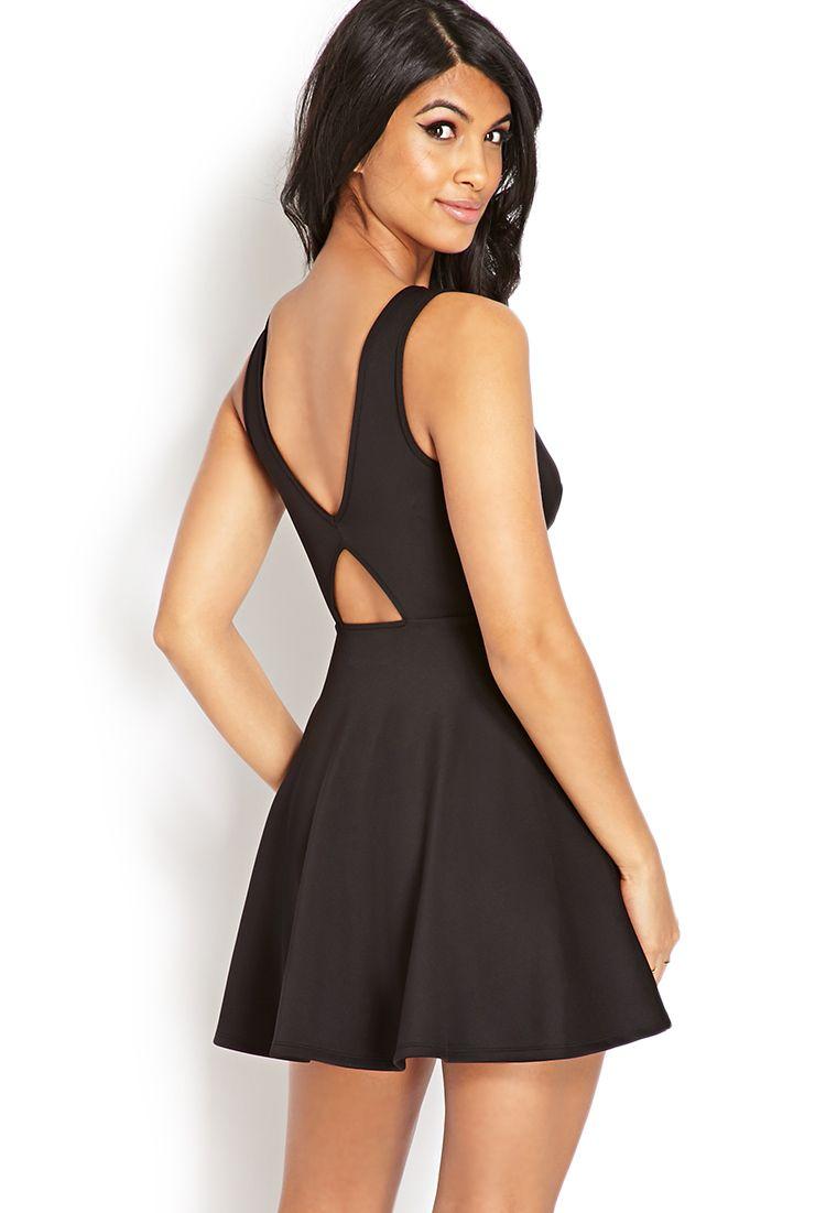 V-Cut Fit & Flare Dress | FOREVER21 - 2000071779