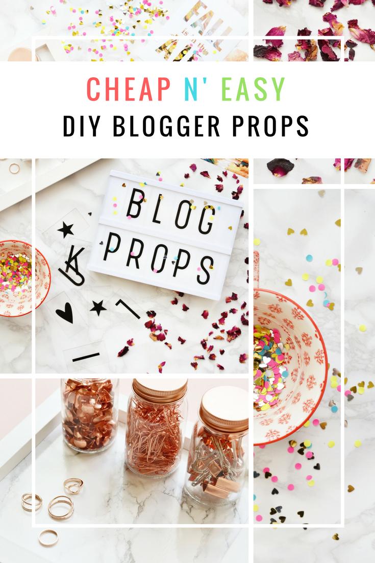 4 Cheap & Easy DIY Blog Props   Blogging tips   Blog tips ...