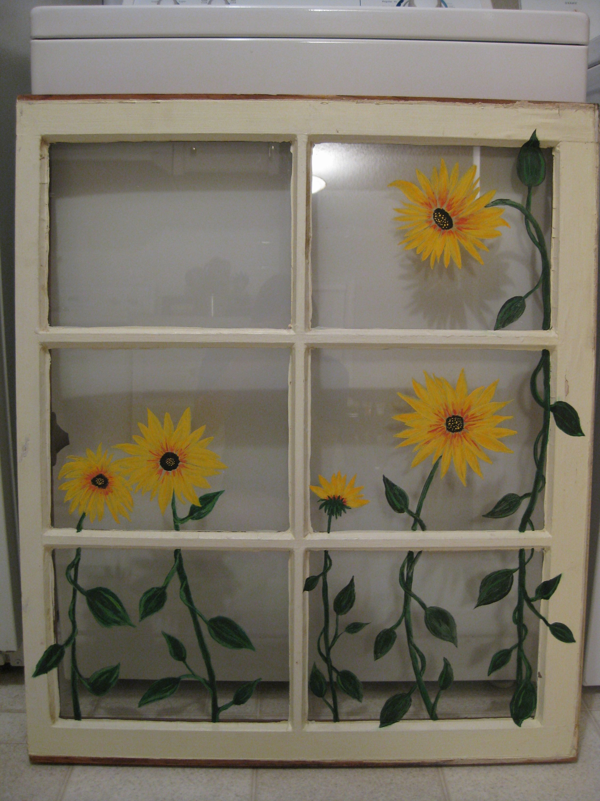 Pin By Heather Katzenmeier On My Projects Window Crafts Old Window Crafts Window Painting