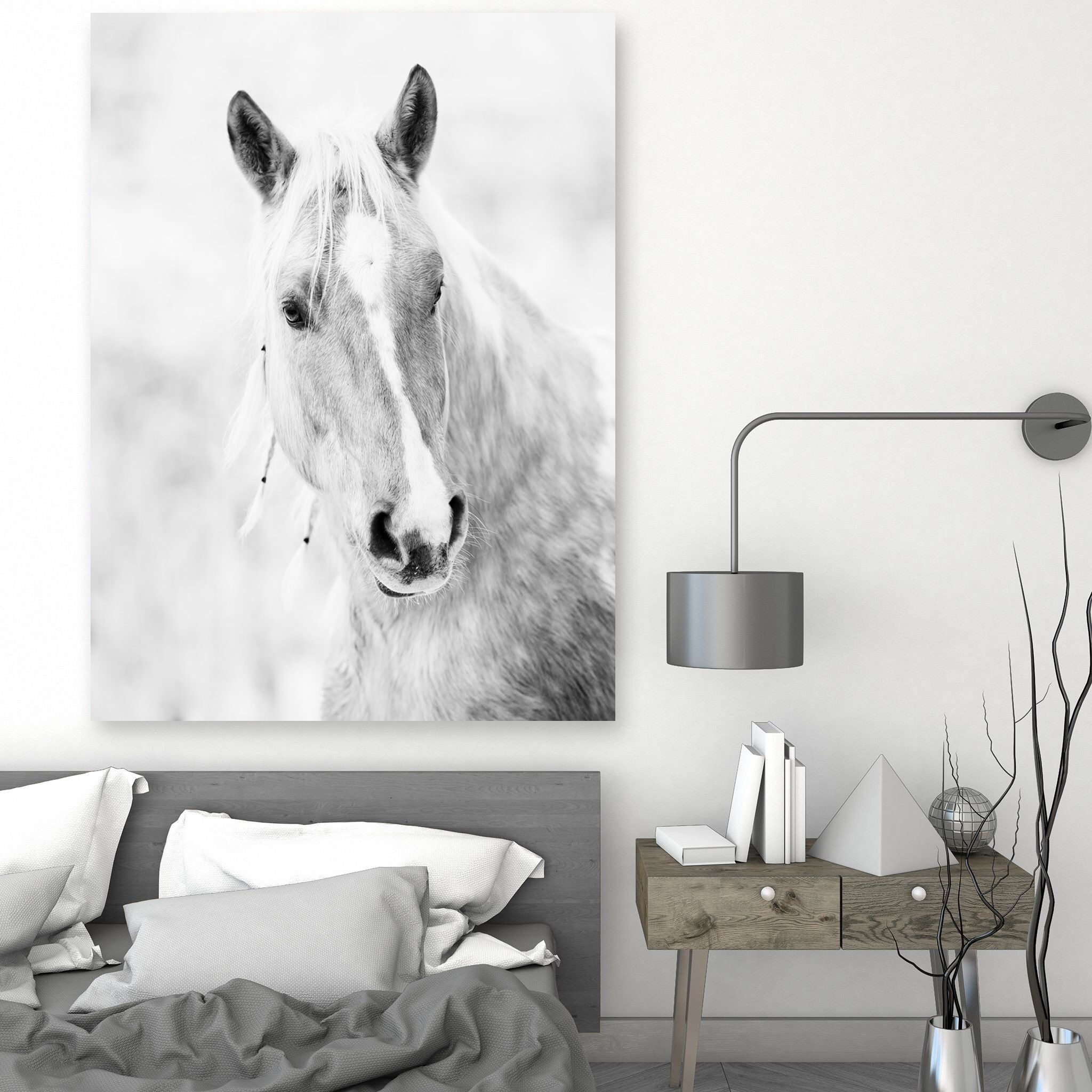 Horse Print, Horses Photography, Black And White Wall Art, Animal