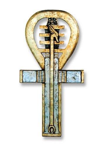 Rare Mystical 1930s Art Deco Egyptian Ritual Pharaoh Glass Necklace Necklaces & Pendants Hieroglyphs Price Remains Stable