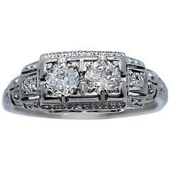 Jabel .55 Carats diamonds White Gold Engagement Ring