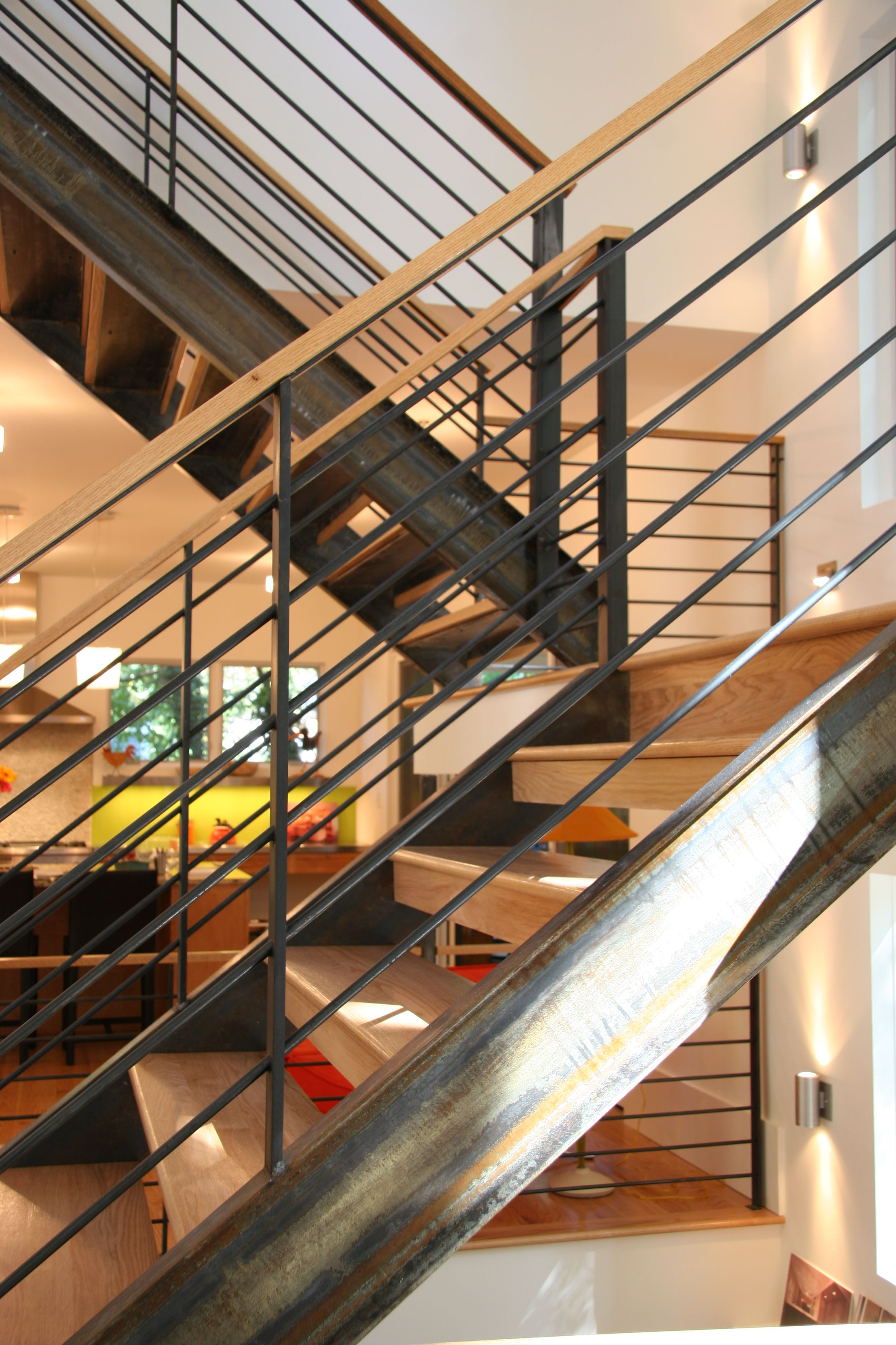 Best Raw Steel Staircase House Staircase 640 x 480