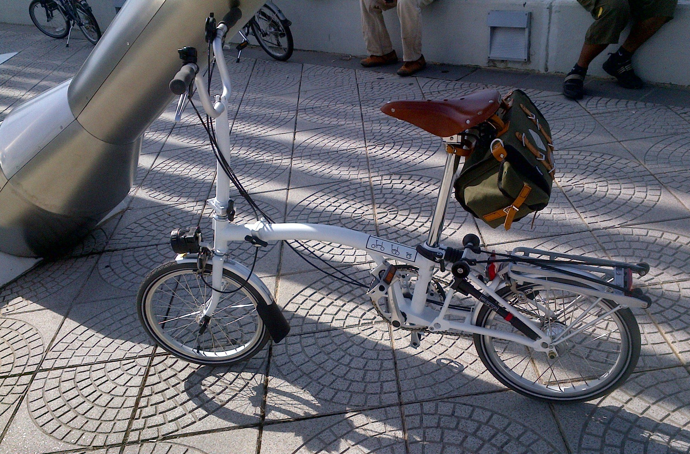 Brompton Bicycle With Brooks Saddle And Carradice Bag