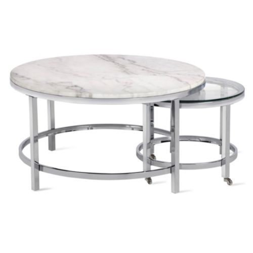 Vincente Coffee Table Set Of 2 In 2020 Round Coffee Table