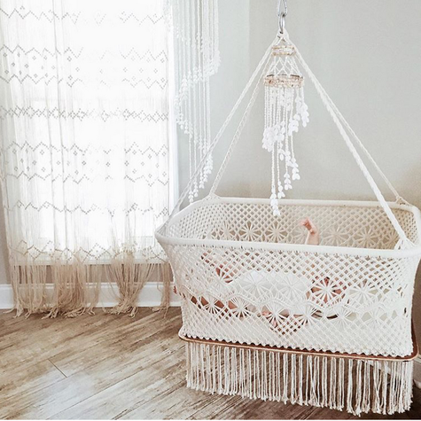 berceau bebe macrame deco pinterest berceau b b berceau et macram. Black Bedroom Furniture Sets. Home Design Ideas