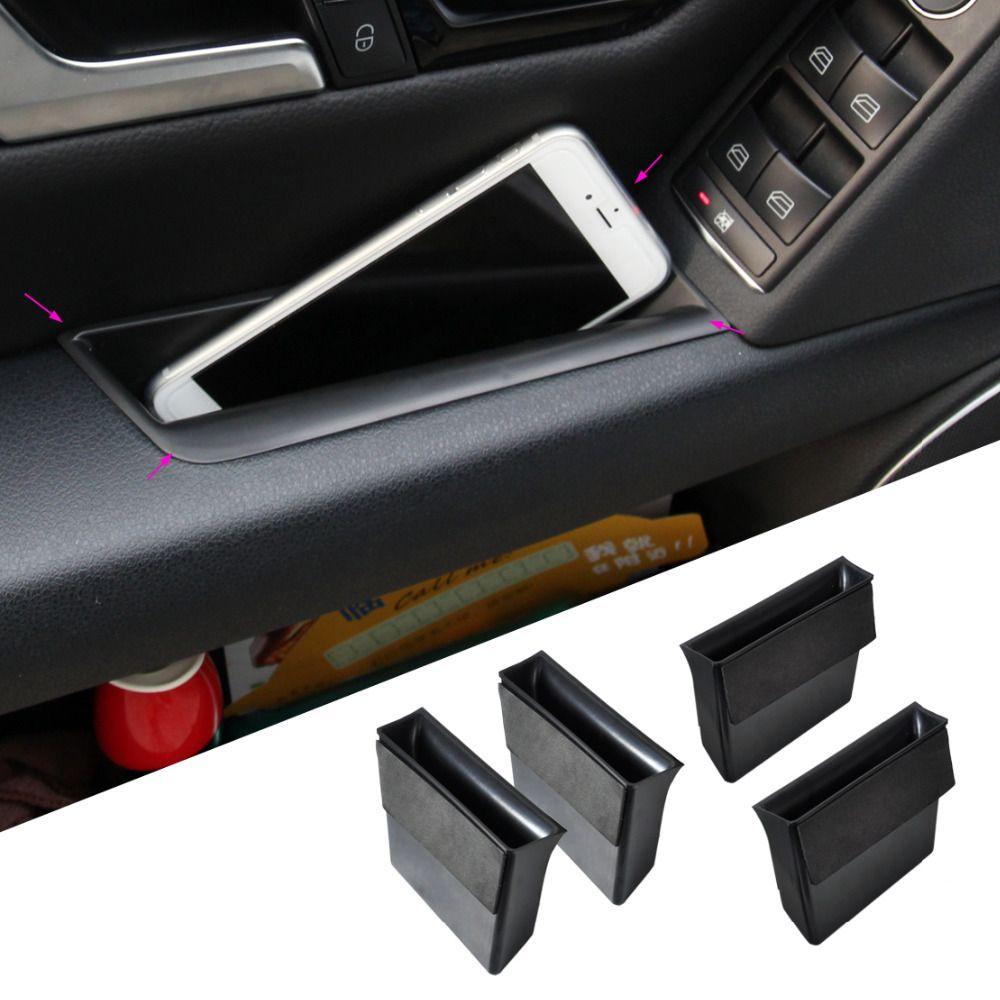4pcs Black New Door Armrest Storage Box For Mercedes Benz GLK Class Benz X204 2009 2010 2011 2012 2013 2014 #Affiliate